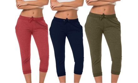3-Pack of Coco Limon Women's Jogger Capris