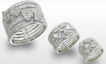 Cubic Zirconia Stackable Rings. Multiple Styles Available.