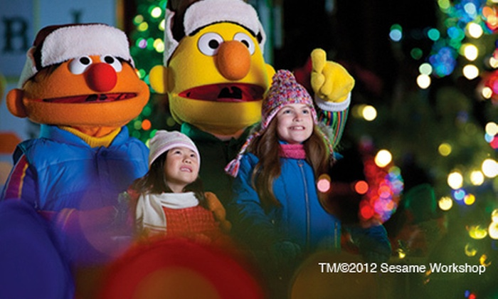 "Sesame Place - Sesame Place: ""A Very Furry Christmas"" Celebration for Two, Three, or Four at Sesame Place (Up to Half Off)"