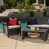 Clearwater Outdoor Brown Wicker Sofa Set (4-Piece)