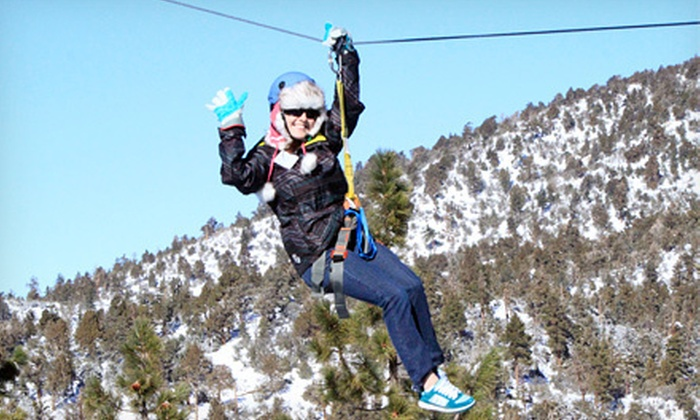 Action Zipline Tours - Big Bear Lake: Three-Hour Zipline Tour Monday–Friday or Saturday and Sunday at Action Zipline Tours (40% Off)