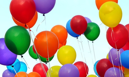50 or 100 Custom-Printed Balloons with Logo from Cornerstone Balloon Services Ltd. (51% Off)