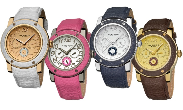 Women's Akribos Multifunction Watches: Women's Akribos XXIV Multifunction Watches (Up to 88% Off). 11 Options Available. Free Shipping and Free Returns.