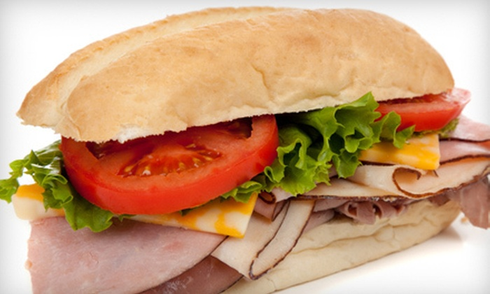 Ruma's Deli - Multiple Locations: Sandwich Meal for Two or Four with Chips and Drinks at Ruma's Deli (Up to 59% Off)