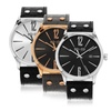 SO&CO New York Men's Leather-Strap Dress Watch