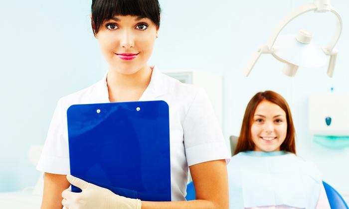 DENTAL - SOLUTION - DENTAL - SOLUTION: Visita odontoiatrica con pulizia dei denti, smacchiamento, otturazione e sbiancamento LED