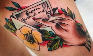 Jesse Iris at Lovedog Tattoo Studio: 30 Minutes or One Hour of Tattoo Services from Jesse Iris at Lovedog Tattoo Studio (Up to 51% Off)