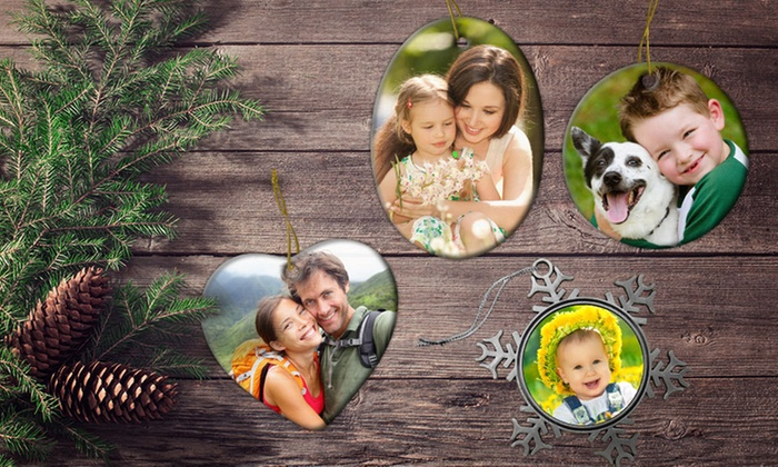 Picture it on Canvas **NAT**: Customizable Metal, Ceramic, or Pewter Ornament from Picture It on Canvas for $9.99 or $11.99