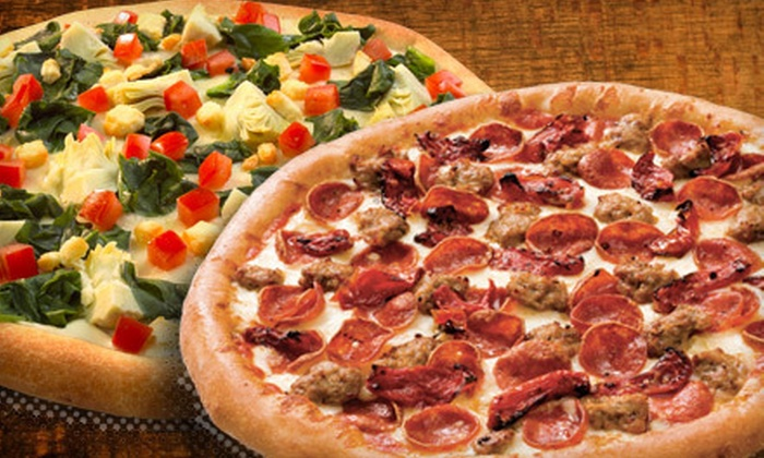 Toppers Pizza  - Multiple Locations: Grinder Meal with Topperstix for Two, Pizza Meal with Topperstix, or Two Large Pizzas at Toppers Pizza (Up to 53% Off)