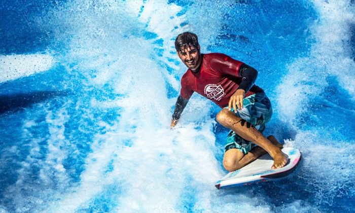 FlowRider Wave Ride at Planet Hollywood Pool - The Strip: FlowRider Wave Ride with Pool Entry & Beverage for Two or Cabana Option for Four at Planet Hollywood Pools (Up to 50% Off)