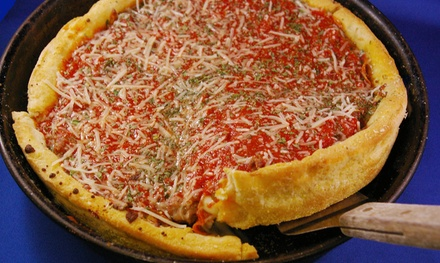 $19 for One Deep Dish Pizza and Wine or Beer for Two at Handsome Henry's ($34 Value)