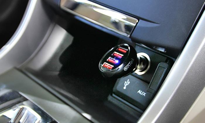 Ontek 4-Port Rapid Car Charger