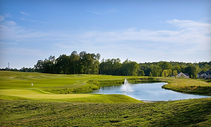 Colonial Heritage Golf Club - Stonehouse: Four or Eight All-Day Practice Passes with Unlimited Range Balls at Colonial Heritage Golf Club (Half Off)