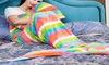 Soft Fleece Mermaid Blanket: Soft Fleece Mermaid Blanket