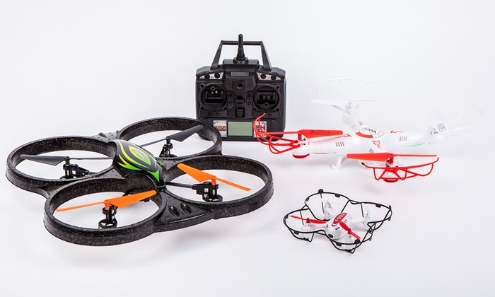 Groupon Goods Global GmbH Remote Controlled Quadcopter Drone With Built In Video Camera