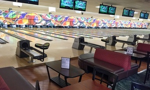 Strikers Family Sportscenter: $40 for Two-Hours of Bowling for Up to Five with a Large Pizza (Up to $74.15 Value)