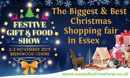 Essex Festive Gift & Food Show, 2–3 November at Brentwood Centre