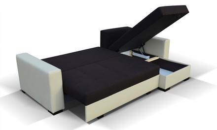 Canapé-lit d'angle Alosha, modèle et coloris au choix, livraison offerte, à 579€ (59% de réduction)