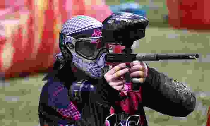 Bragg Creek Paintball - Bragg Creek: Paintball Package with Rental Gear and Unlimited Air for Two, Four, or Eight (Up to 60% Off)
