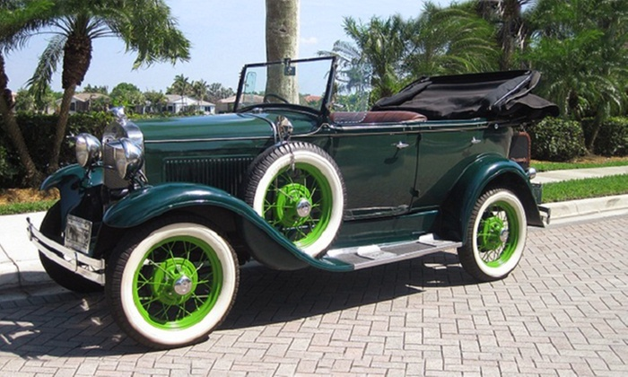 Wedding Rental Car - Fort Lauderdale: Four- or Six-Hour Rental of a 1930 Ford Model A from Wedding Rental Car (50% Off)