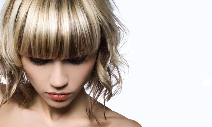The Loft Salon - Temecula: Haircut, Style, and Glass of Wine with Optional Partial or Full Highlights at The Loft Salon (Up to 66% Off)