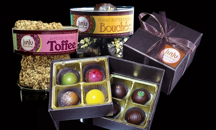 JinJu Chocolates - Downtown: Novelty Chocolate Boxes from JinJu Chocolates (Up to 46% Off). Three Options Available.