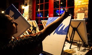 Winey Art: Painting Class with Wine for One or Two at Winey Art (Up to 43% Off)
