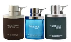 Myrurgia Yacht Man Fragrances for Men: Myrurgia Yacht Man Black, Blue, Chocolate, Dense, Metal, or Red Eau de Toilette for Men (3.4 Fl. Oz.)