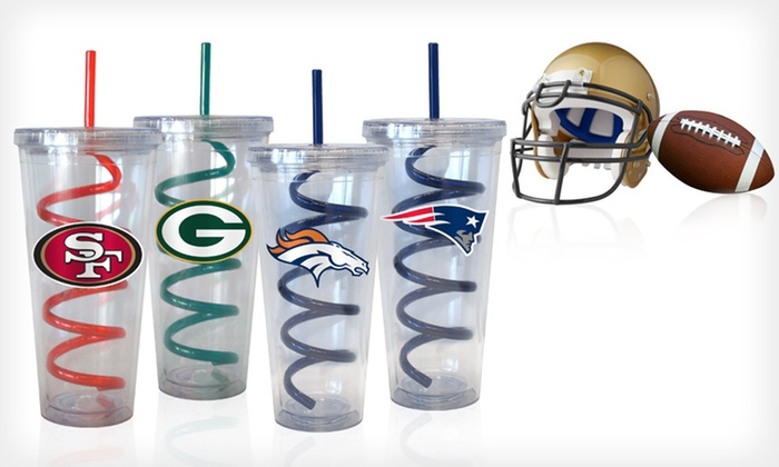 Two NFL Swirl-Straw Tumblers: $25 for Two NFL Swirl-Straw Tumblers ($35.98 List Price). 32 Teams Available. Free Shipping and Free Returns.