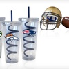 $25 for Two NFL Swirl-Straw Tumblers