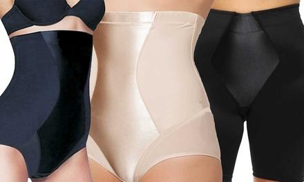 Women's Firm Control Underwear with Satin Panel
