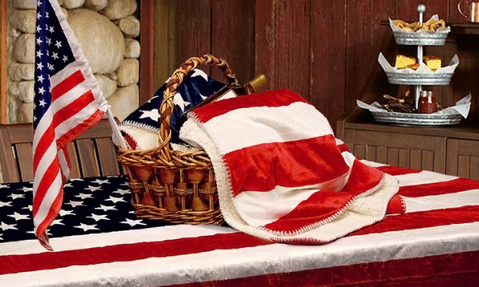 Three-Piece Americana Picnic Set with Plush Throw, Mat, and Car Flag: $34.99 for an Three-Piece Americana Picnic Set with Throw, Mat, and Flag ($99.99 List Price). Free Shipping and Returns.
