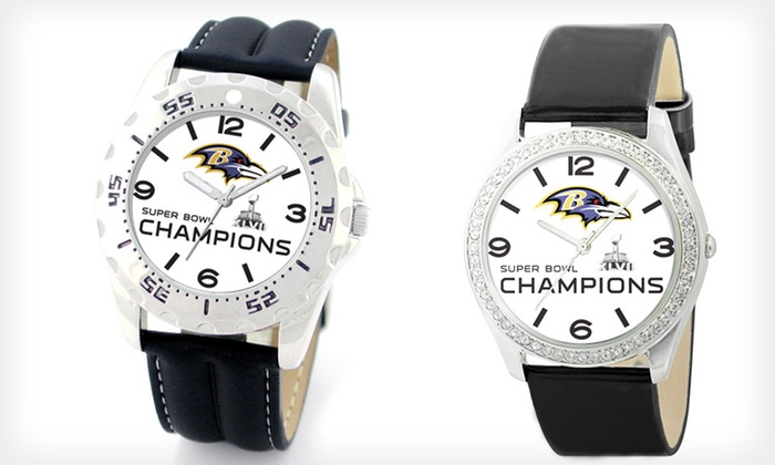 Baltimore Ravens Championship Watch: $32 for a Men's or Women's Baltimore Ravens Championship Watch ($49.95 List Price). Free Shipping and Free Returns.