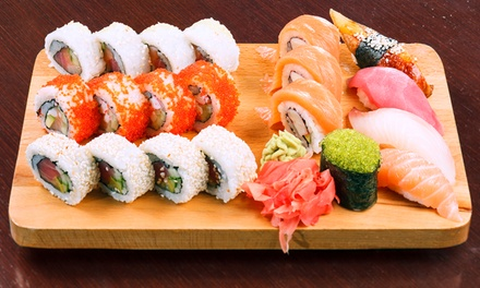 Menú japonés para 2 personas con 26 piezas de sushi, bebida y opción a entrante y postre desde 15,95 € en Sushi Artist