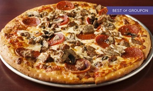 $12 for Pizza at Ragazzi's Pizza at Ragazzi's Pizza, plus 9.0% Cash Back from Ebates.