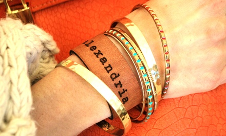 Personalized Leather Cuff Bracelets from LilyDeal