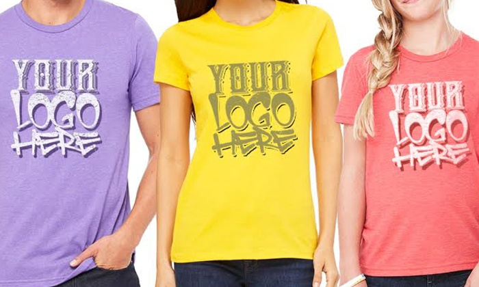 Culture Studio: 12, 25, or 40 Cotton T-Shirt Customized with a Two-Color Logo from Culture Studio (Up to 50% Off)