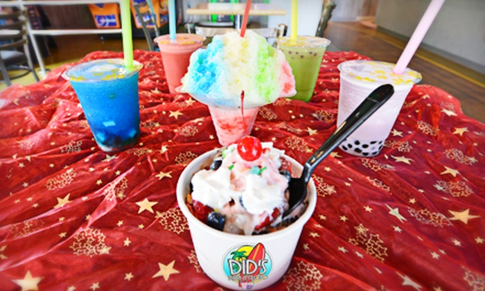 Did's Pizza & Froyo - Spokane: $6 for $12 Worth of Frozen Yogurt, Bubble Tea, Pizza, and Hawaiian Barbecue at Did's Pizza & Froyo