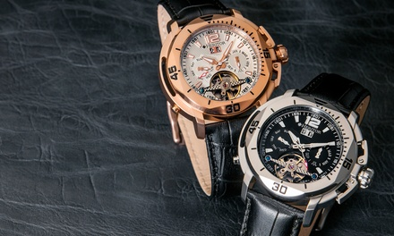 699 zł zamiast 3 999 zł: męski zegarek Heritor Lennon – 6 kolorów do wyboru (-83%)