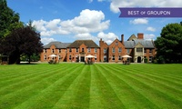 Gloucester: 1 or 2 Nights for Two with Breakfast and Dinner Credit at Hatherley Manor Hotel