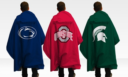 NCAA 3-in-1 Stadium Blanket, Poncho, and Seat Cushion