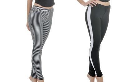 Women's Stretchy Skinny Techno Pants (2-Pack)