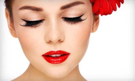 Natural or Cat-Eye Eyelash Extensions with a Touch-Up at The Green Bath & Beauty Company (Up to 51% Off)