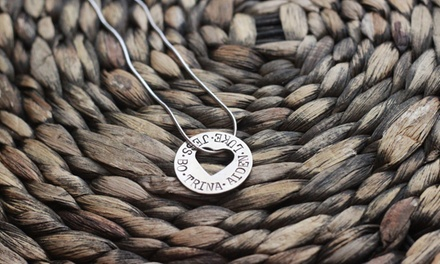 $19 for a Hand-Stamped Around My Heart Necklace from Love Stamped ($40 Value)