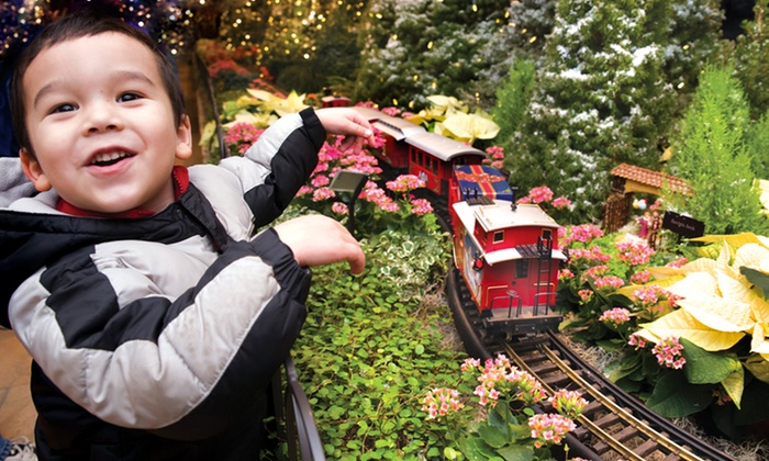 Chicago Botanic Garden - Glencoe: Wonderland Express Visit for Two or Four with Parking at Chicago Botanic Garden (Up to 49% Off)