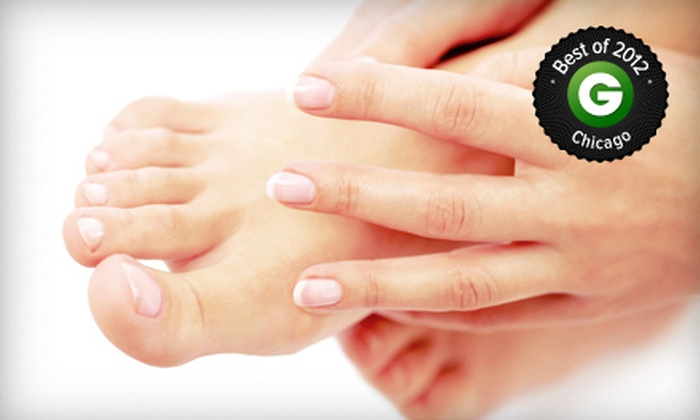 The Pink Nail & Spa - Multiple Locations: $59 for Two No-Chip Manicures and Two Regular Pedicures at The Pink Nail & Spa ($128 Value)