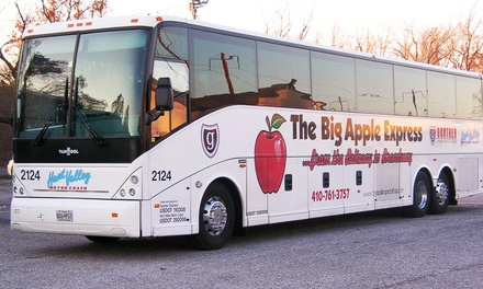 $33 for a Same-Day Round-Trip Bus Ride to New York City from Hunt Valley Motor Coach ($55 Value)