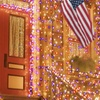 100 LED, Solar-Powered, Red, White, and Blue Fairy Lights
