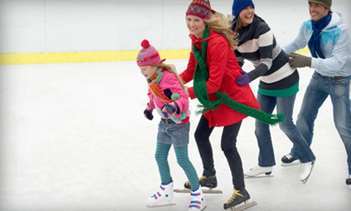 Rink at Wrigley - Lakeview: Ice Skating with Skate Rental for Two Kids or Adults on Monday–Thursday or Friday–Sunday at Rink at Wrigley (Half Off)