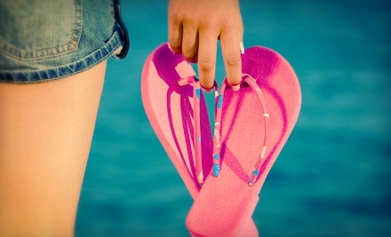 $12 for $24 Worth of Flip-Flops and Footwear at Flip Flop Shops